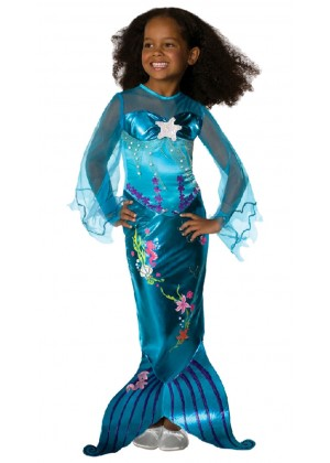 Mermaid Costumes - Blue Magical Mermaid Toddler Child Costume Fancy Dress Mermaid Princess Ariel Book Week Fancy Dress Child Costume