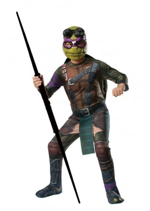 Movie/TV/Cartoon Costumes - TV Show TMNT Teenage Mutant Ninja Turtles Costume Licensed Rubie's Donatello Purple
