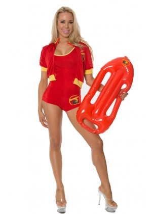 Sports Costumes - Ladies Baywatch Beach Lifeguard Uniform Fancy Dress Costume Outfits