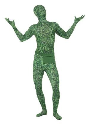 Adult Morph Costume Spandex Body Suit Zentai Lycra Second Skin Costume Grass Pattern