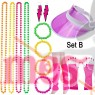 Coobey 80s Neon Bracelet Necklace Bow Headband Fishnet Gloves Lighting Earring Leg Warmers