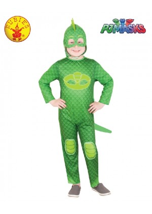 PJ MASKS GLOW IN THE DARK GEKKO CHILDREN KIDS COSTUME BOOK WEEK CHILD