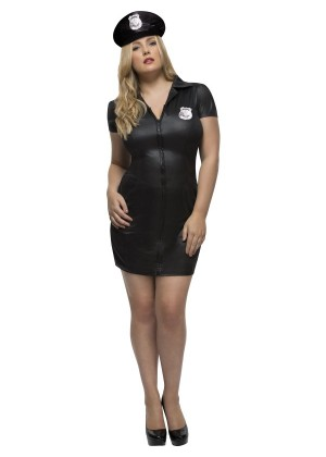 Ladies Uniform Fever Curves Army Soldier Dress Costume Police Cop Military Adults Plus Size Fancy Dress