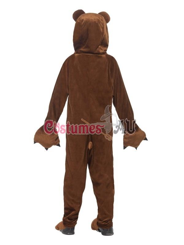 Kids Boys Girls Teddy Bear Jumpsuit Fancy Dress Book Week Animal Zoo Costume New