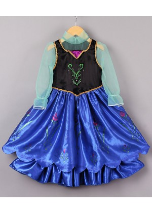 Frozen Costumes - Girl Dress Disney Frozen Anna Party Birthday Fancy Costume Dress