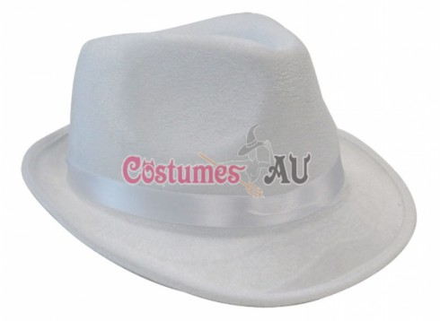 Hat Cowboy 1920s Gangster Costume White Hat Accessories
