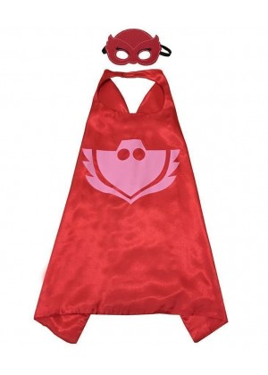 PJ masks owlette Double Layer Cape & Mask Costume Book Week