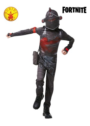 Kids Boys Girls Teen Black Knight Fortnite Gaming Halloween Fancy Dress Costume Outfit