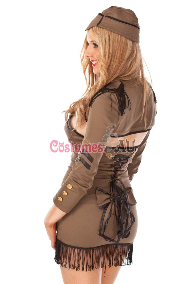 sc 1 st  Costumes AU & Pin Up Army Girl Costume