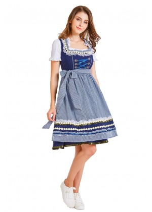 Ladies Oktoberfest German Bavarian Beer Maid Vintage Costume