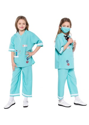 Child Nurse Doctor Girls Hospital Vet Book Week Kids Dress Costume Outfit