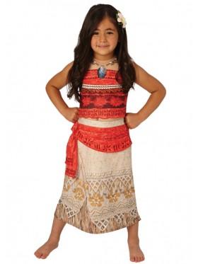 Moana Polynesia Princess Dress Girls Child Kids BookWeek Hawaiian Necklace Girls Costume