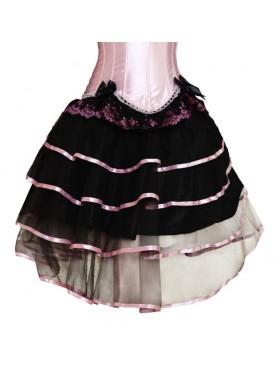 Black with Pink Satin skirt