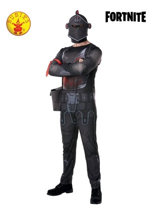 Mens Official Black Knight Fortnite Gaming Halloween Fancy Dress Costume Outfit