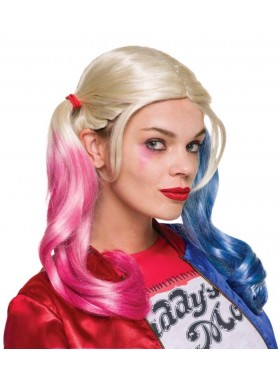 Licensed Harley Quinn Wig Harley Quinn's Wigs SUICIDE SQUAD Costume Accessories