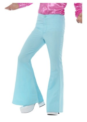 Mens Retro Groovy Flared Bell Bottom Trousers 60s 70s Hippie Hippy Costume Pants Disco Dance Trousers Saturday Night